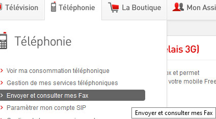 envoyer un fax avec free revolution